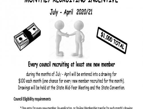 1 member per council per month