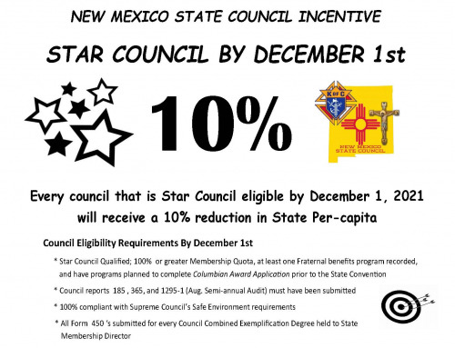 STAR COUNCIL BY DECEMBER 1st