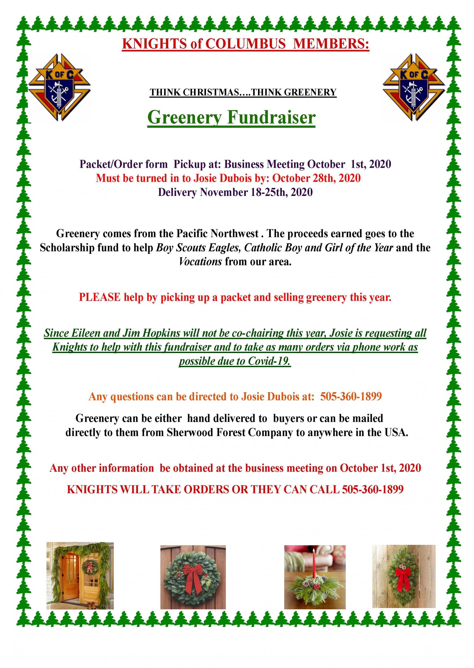 Greenery Fundraiser
