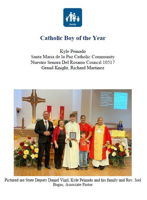 Catholic Boy of the Year