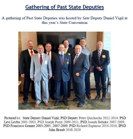 Gathering of Past State Deputies